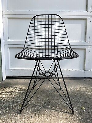Vintage Eames Herman Miller Wire Mesh Eiffel Dkr Chair Rare Post-1950 Antiques