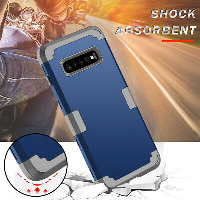 For Samsung Galaxy S10 Plus Armor Heavy Duty Bumper Full Protective Case Cover
