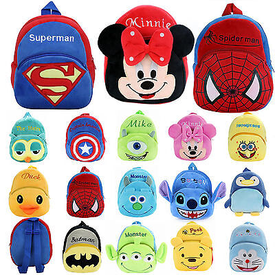 Toddler Kids Baby Children Boy Girl 3D Plush Cartoon Animal Backpack School Bags