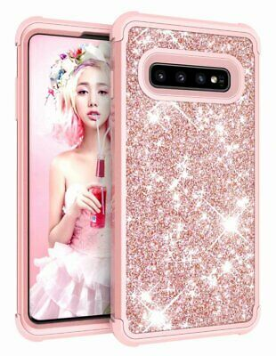 Samsung Galaxy S10 Plus Glitter Case Luxury Sparkle Shockproof Heavy Duty Hybrid