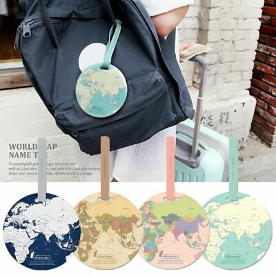 Holder Travel Accessories Address Boarding ID Suitcase Label World Map Bag Tags
