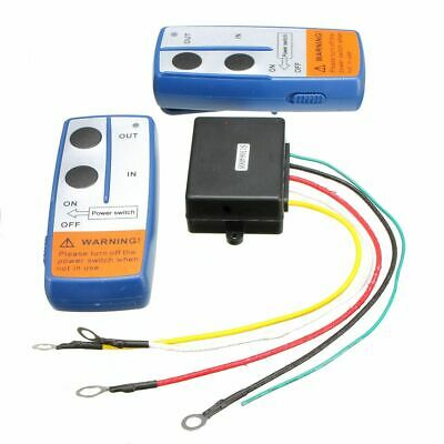 12V 100 ft Wireless Winch Remote Controller Recovery Crane Twin Han UK