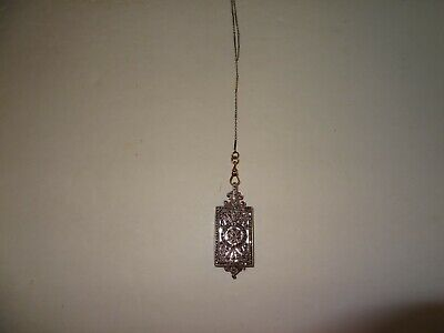 Antique French Art Deco Lorgnette Sterling Silver w/Marcasites & Chain - Ex Cond