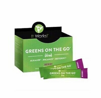 It Works! Greens on the Go Blend Packets•Berry Flavor•New•Box of 30 Packets