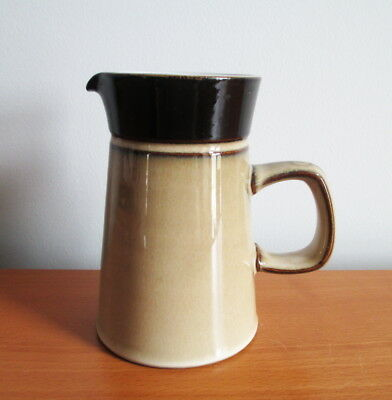 "Denby Country Cuisine 8 oz Creamer Pitcher 5"" Tan Brown Stoneware 1980s England"