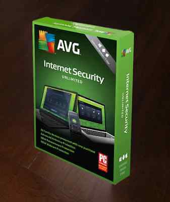 Avg Internet Security 1 Year Unlimited Users   Worldwide - Newest Version