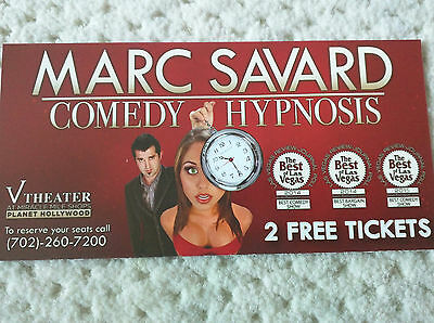 2 Tickets to Marc Savard Comedy Hypnosis at Planet Hollywood Vegas, an value