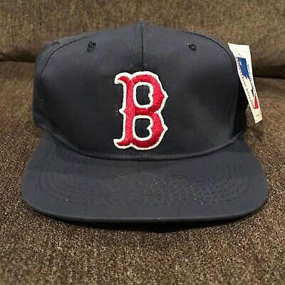new york b4a0f d770c Vintage MLB 90s Boston Red Sox Drew Pearson Blue Snapback Hat NWT Rare