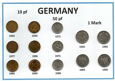 Germany Assorted Coin Collection 13 coins