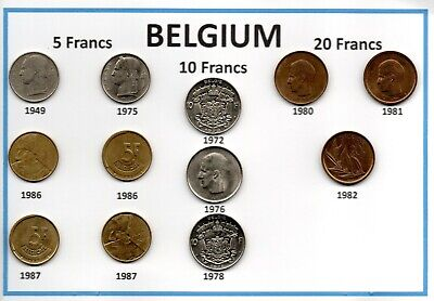 Belgium Assorted Coin Collection 31 coins