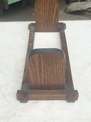 Antique Mission Oak Arts & Crafts Folding Recipe Book Holder Bookends