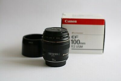 Canon EF 100mm f2.8 USM + Hood  ! Perfect Condition - Mint !
