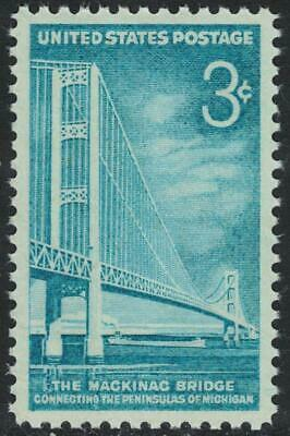 Scott 1109- Mackinac Bridge, Michigan- MNH 3c 1958- unused mint US stamp