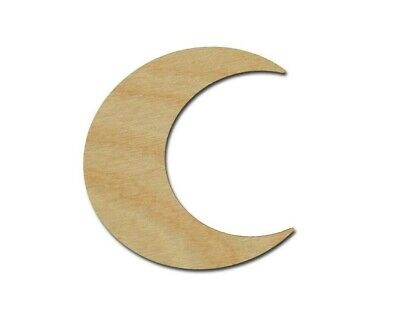Moon Shape Unfinished Wood Cutouts DIY Crafts Variety of Sizes Made In USA
