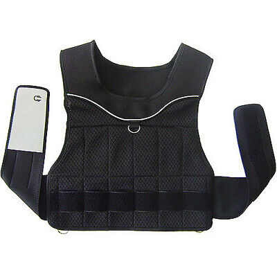20 Pound Adjustable Weighted Vest Fitness Aerobic Workout Exercise Strength Core