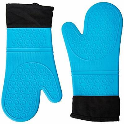2 Pc Oven Mitts Set Of Silicone Extra Long Pair Pot Holder Fit To Protect Your