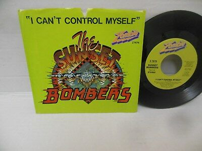 "THE SUNSET BOMBERS nr mint 7"" vinyl I CAN'T CONTROL MYSELF b/w HIGH COTTON w/pic"