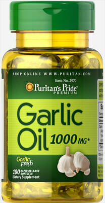Puritan's Pride Garlic Oil 1000 mg - 100 Rapid Release Softgels