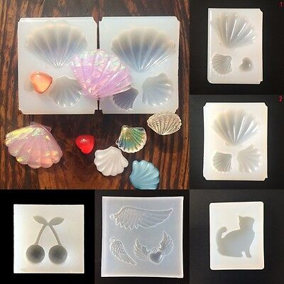 DIY. Silicone Gems Beads Mould Mold Resin Jewellery Making Pendant Jewelry New~-