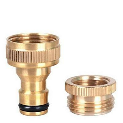 Brass Garden Lawn Water Hose Pipe Fitting Set Tap Connector Spray Nozzle YI