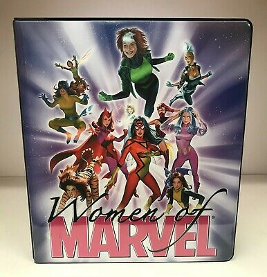 Women of Marvel - Trading Card Binder Album & 5 Promo Cards - Rittenhouse 2008