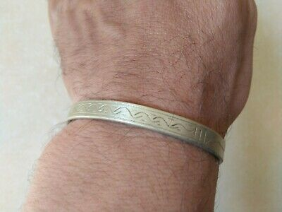 extremely ancient viking bracelet silver color artifact stunning rare type