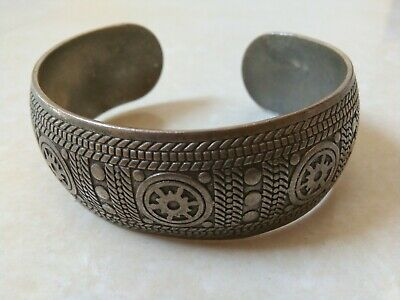 Extremely Ancient Viking Bracelet Metal Silver Color Artifact Stunning Rare Type