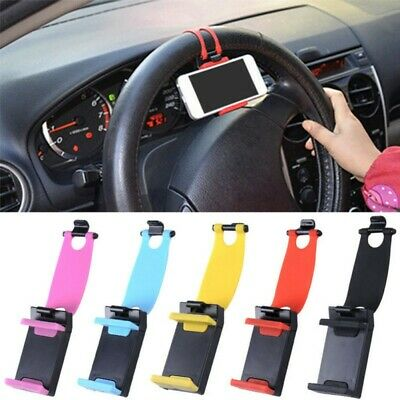 Universal Mobile Phone GPS Mount Holder Clip Buckle Socket On Car Steering Wheel