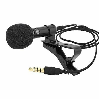 3.5mm Jack Clip-on Lapel Lavalier Mic Microphone Fr iPhone Phone Recording PC CA