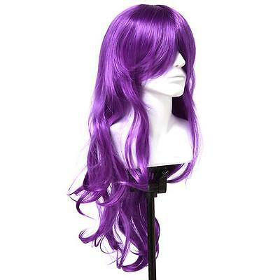 Womens Long Hair Wig Curly Wavy Synthetic Anime Cosplay Party Full Wigs YI