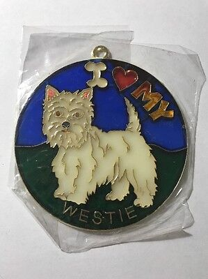 Vintage 1980s I heart my WESTIE Suncatcher HOW COOL Gotta Love It SC-01