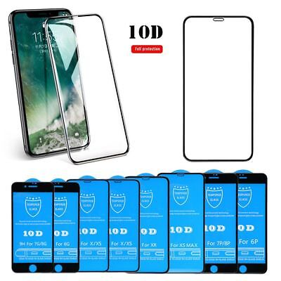 9H 10D Tempered Screen Glass Full Cover Protector Film For iPhone X 8 XR XS Max