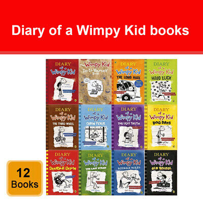 Diary of a Wimpy Kid Collection 12 Books Set by Jeff Kinney Double Down NEW Pack