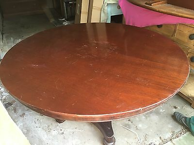 "VICTORIAN MAHOGANY TILT TOP BREAKFAST TABLE- 54"" Diameter"