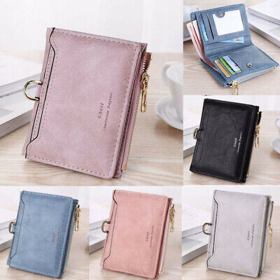 Women Short Small Coin Purse Wallet Ladies Leather Folding Card Card Holder AU