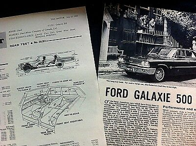 FORD GALAXIE 500  - 1963 - Road Test removed from The Motor