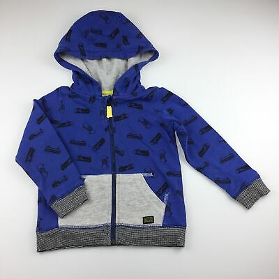 Boys size 2, Target, blue cotton hooded sweater, skateboards, GUC