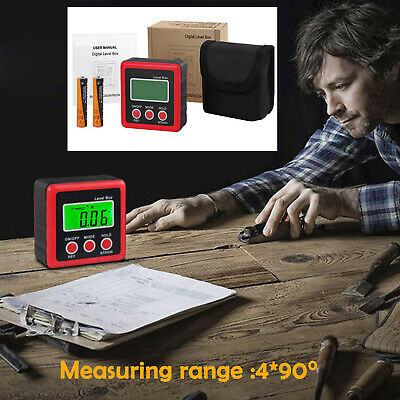 4*90° LCD Digital Bevel Box  Angle Finder Meter Protractor Gauge Inclinometer