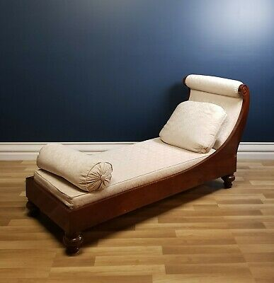 Stunning Antique, Early Victorian Daybed, Sofa, Chaise Lounge Circa 1840