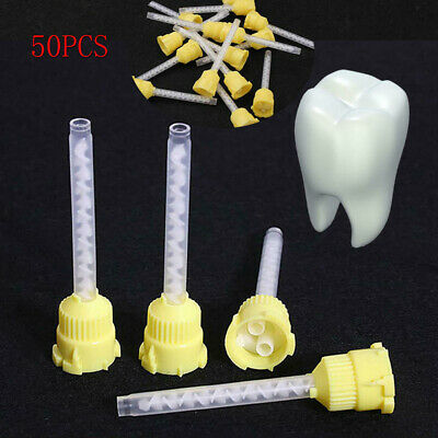 US 50Pcs Disposable Dental Silicone Rubber Impression Mixing Tip Silicone Rubber