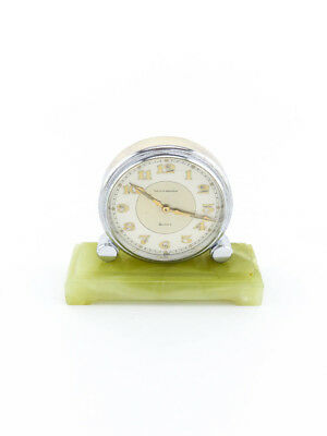 Waltham partner table clock (Double Face) with 8 days movement, art deco, 1930s