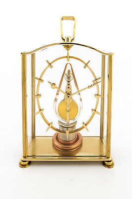 Rare Jaeger-LeCoultre table clock with 8 day inline movement , lantern, 1950´s