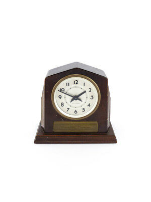 Seth Thomas Table Clock with 8 day movement, art deco, 1930s.