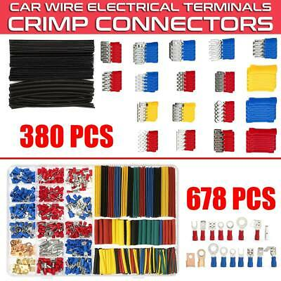 Electrical Wire  Terminals Crimp Connectors Heat Shrink Tube Sleeving Cable Kit
