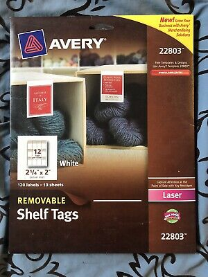22848 Avery Printable Tags with Strings Scallop 2x1.25 Pack of 180