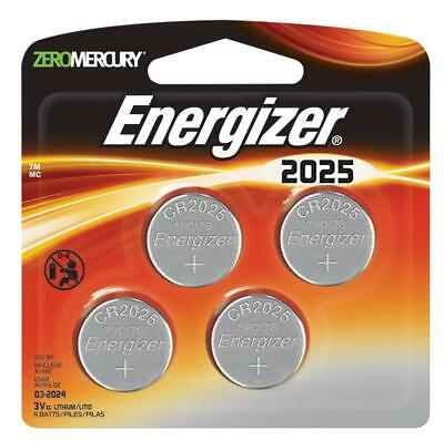 Energizer Lithium 3V Coin Batteries DL2025/CR2025 |Pack of 4| Aus Stock Sealed