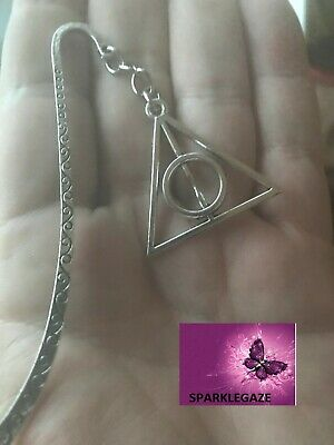 Brand New 2019 Harry Potter Deathly Hallows Silver Metal Bookmark Aus Seller