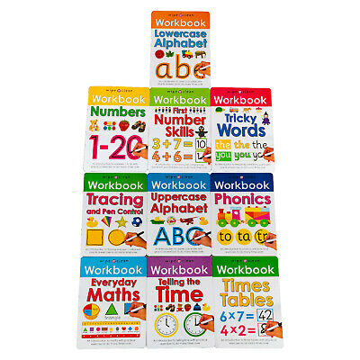 Wipe & Clean Workbook 10 Books Children Collection Paperback Gift Pack Set
