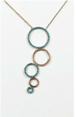 Sterling Silver 925 Gold Plated Circles Necklace