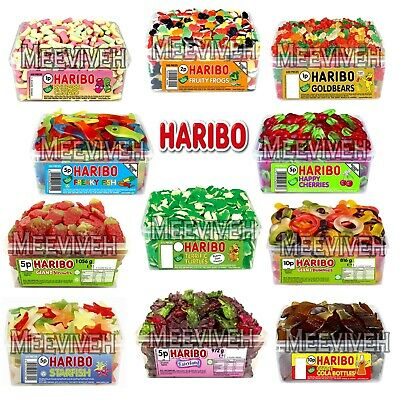 2 Full Tubs Of Haribo Sweets Tub Pick N Mix Favours Treats Wedding Party Candy